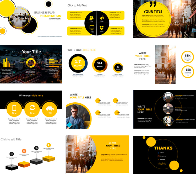 fee-powerpoint-templates-business-download-yellow-and-black