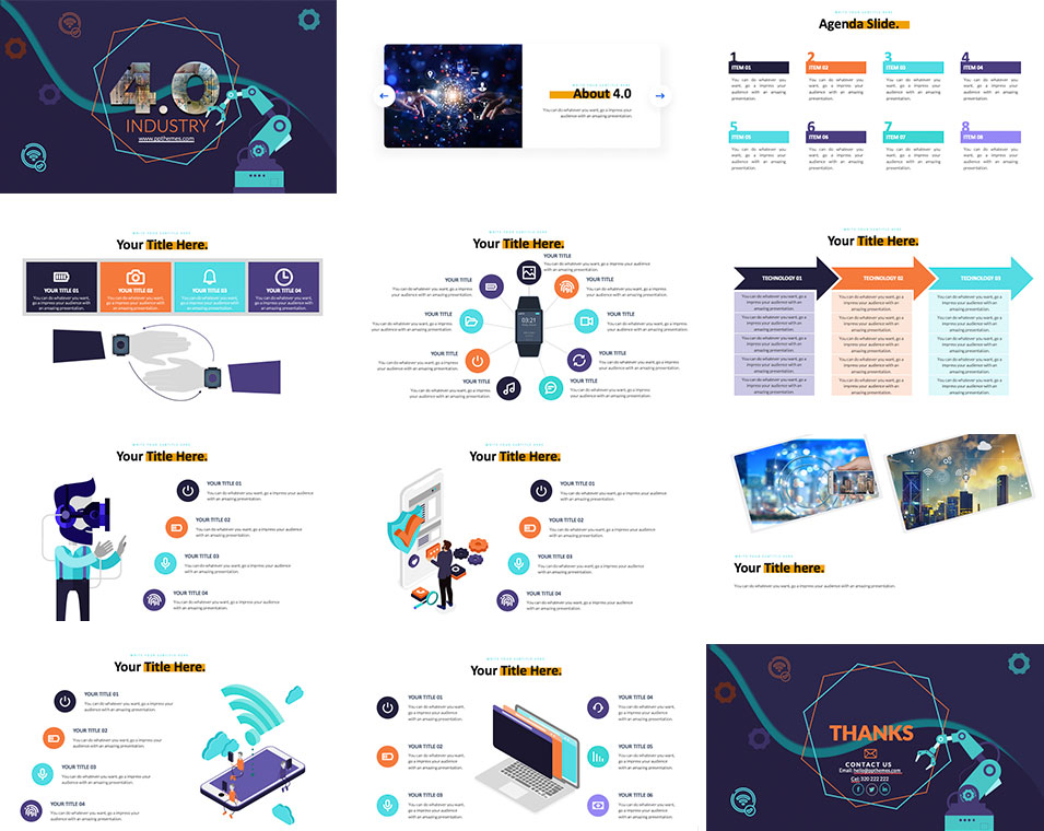 4.0 industry free powerpoint template
