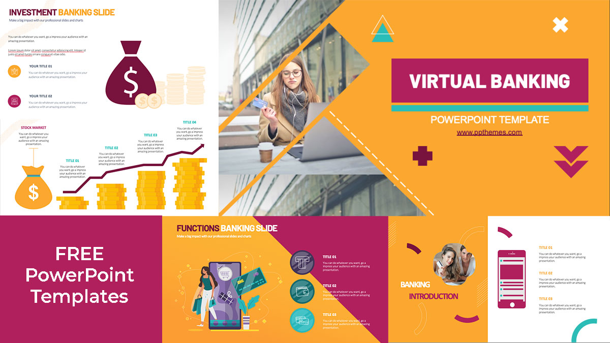 virtual banking powerpoint infographics and presentation