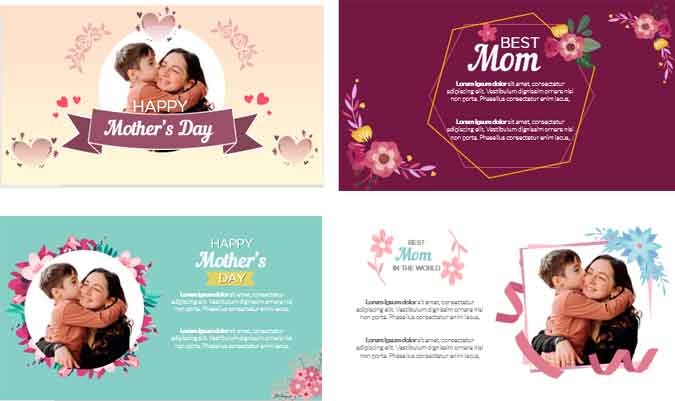 Cards mothers day powerpoint templates preview