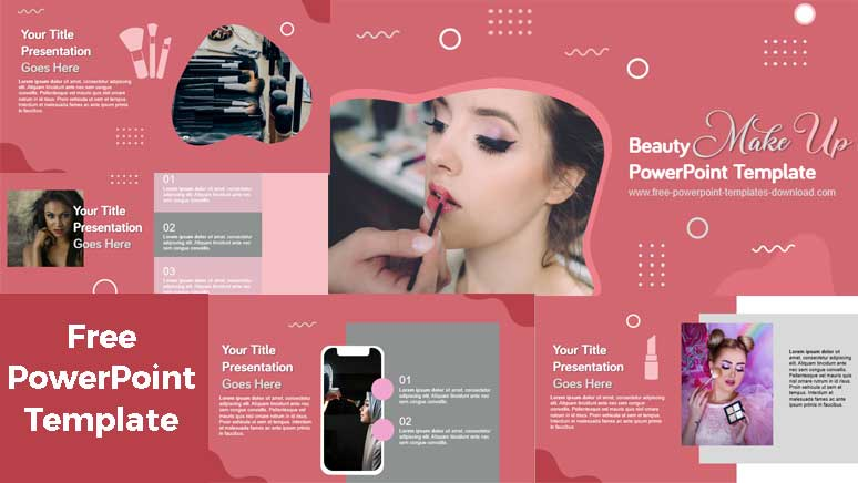 Free beauty makeup powerpoint templates