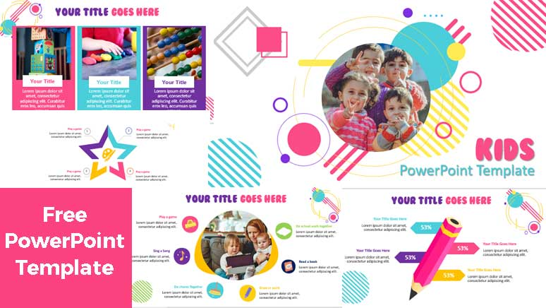 preview of free children powerpoint templates