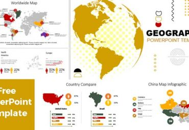 Geographic maps powerpoint templates