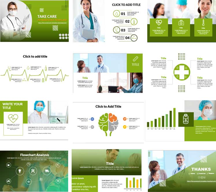 Green free powerpoint templates healthcare