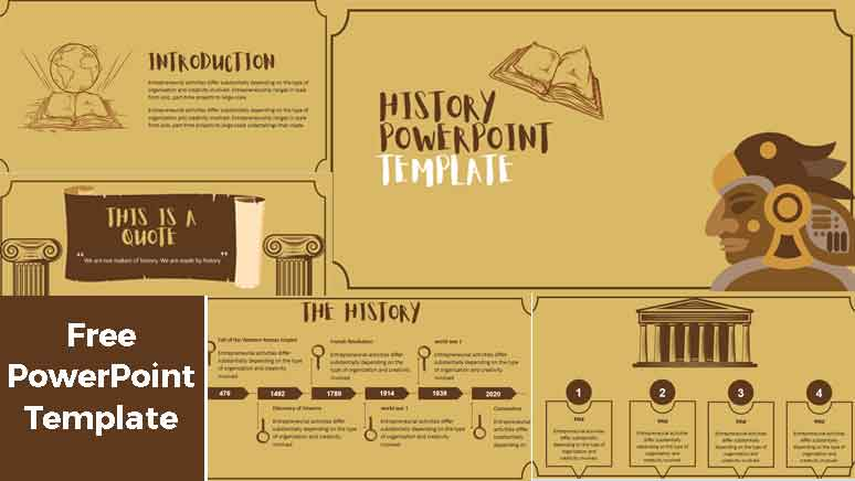 History PowerPoint Templates for Education