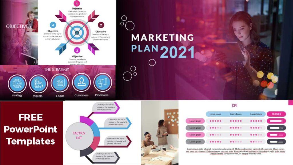 Marketing Plan 2021 powerPoint Templates Free