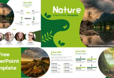 Green Slides for powerpoint templates presentation