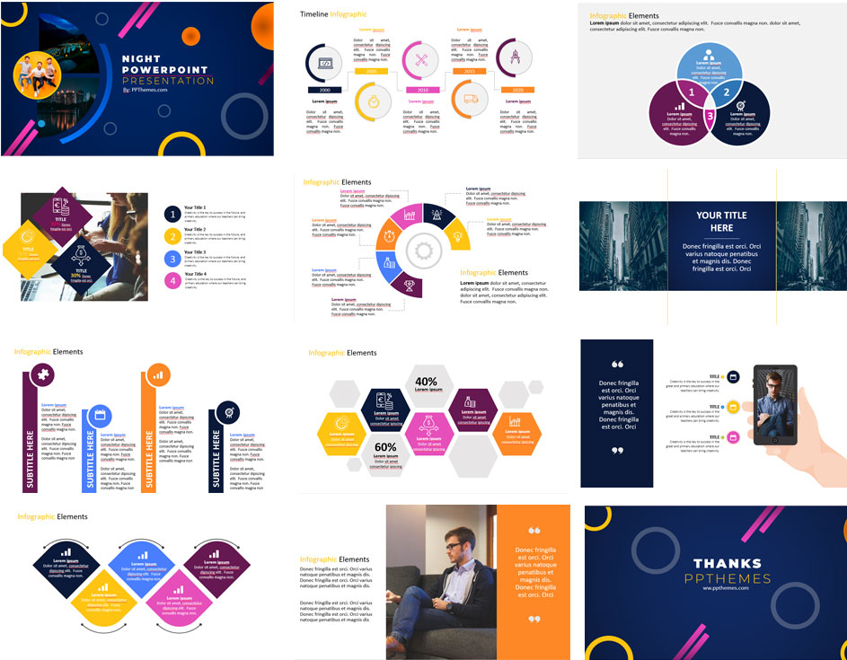 Night Presentation PowerPoint Templates