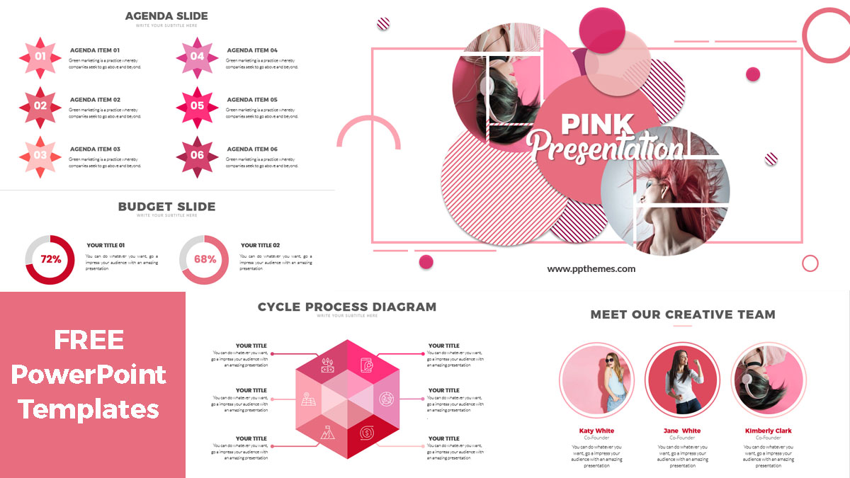 Pink design PowerPoint Presentation