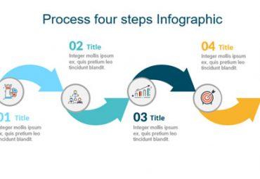 Process four steps Infographic