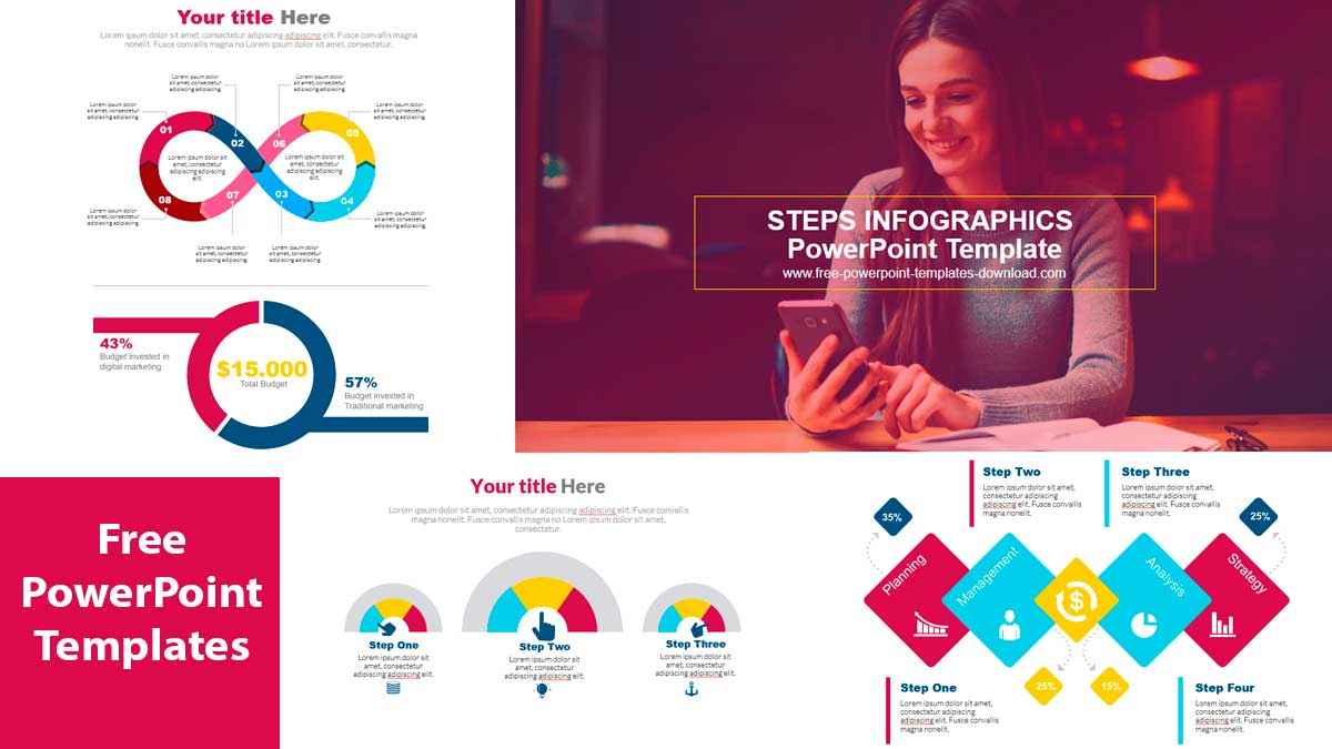 Step-infographic-ppt-template