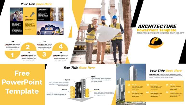 Screenshoot PowerPoint Templates Abour architectura