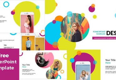 Colorful circles porwerpoint templates free download