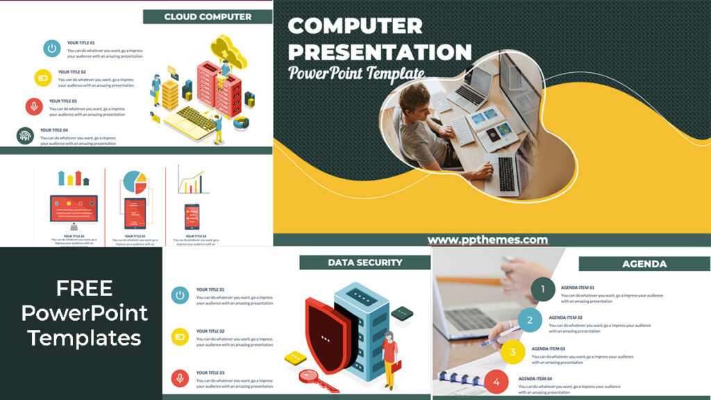 free computer powerpoint infographics for presentation