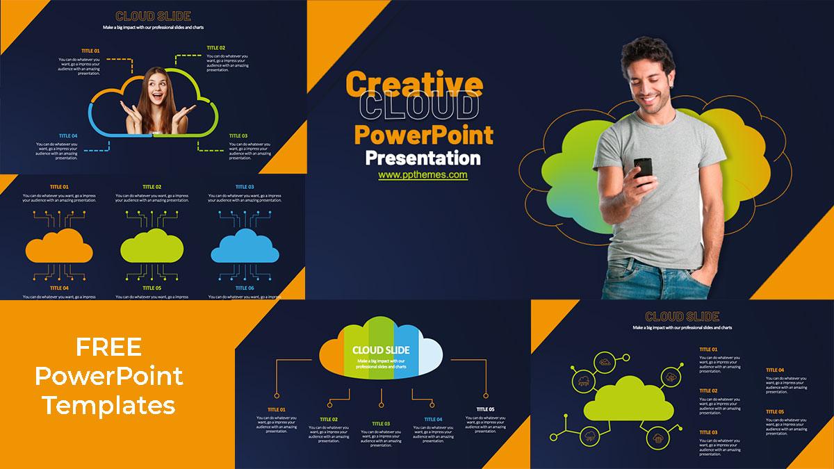 cloud powerpoint presentation template