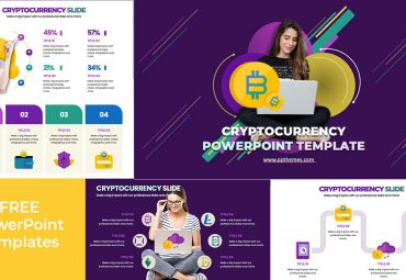 cryptocurrency Infographics free PowerPoint templates