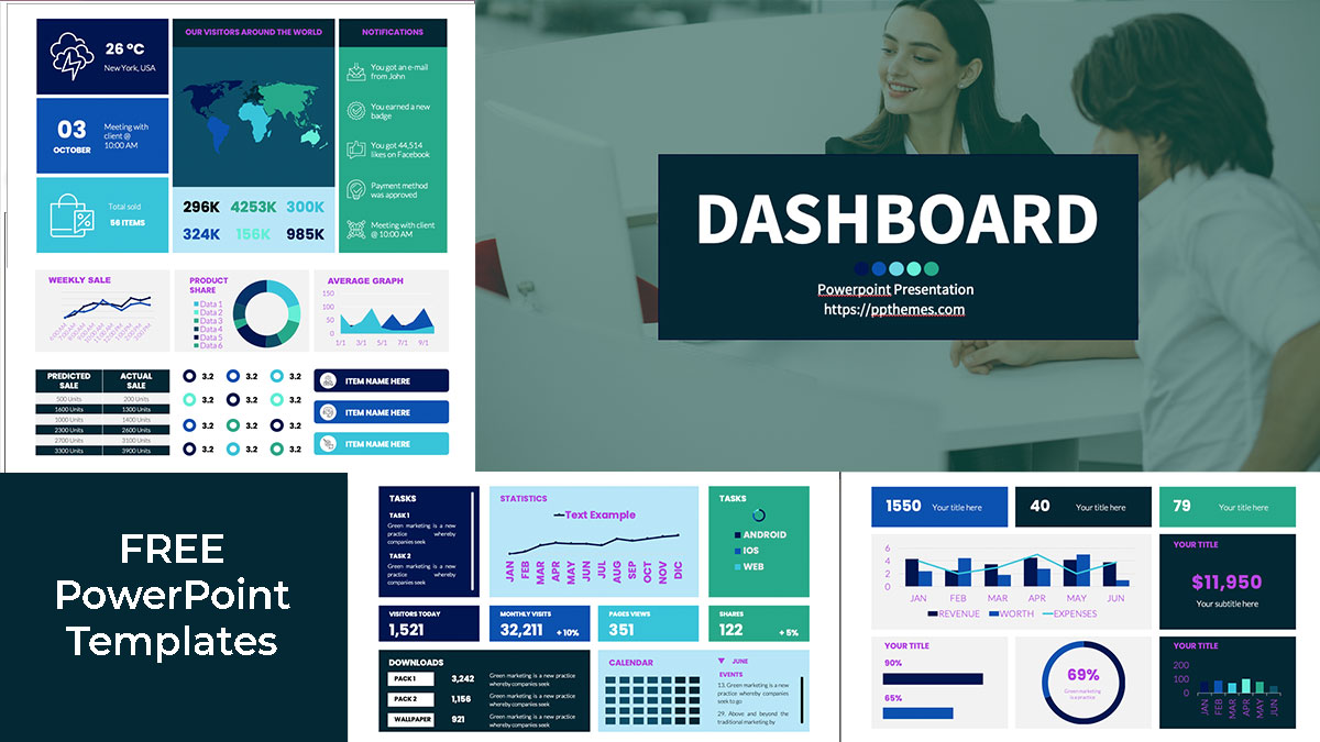 Dashboard powerpoint templates for free