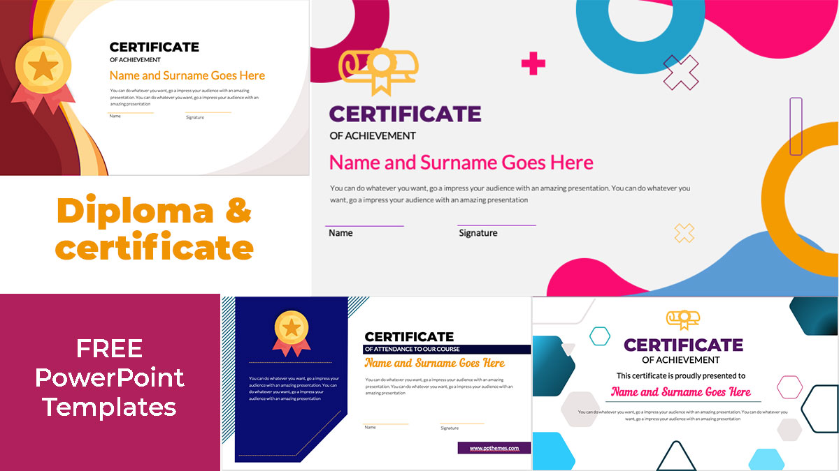 creative certificate and diploma in powerpoint to edit