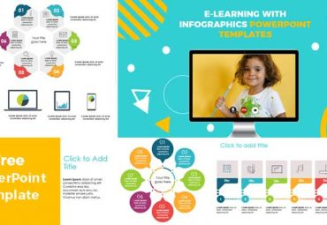 e learning with infographics for powerpoint templates