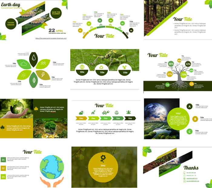 Preview earth day powerpoint templates