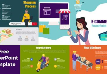 preview ecommerce and logistic powerpoint templates