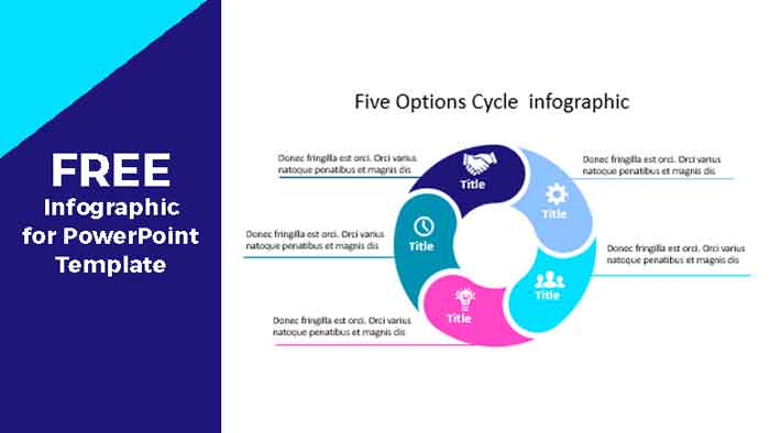Five options Cycle Infographic