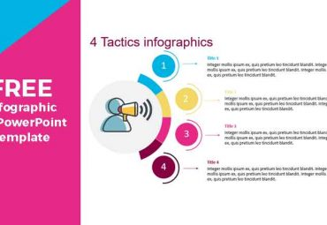 Infographics with Four (4) tatics or steps