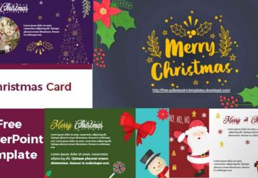 Free Christmas Card to edit in PowerPoint Templates