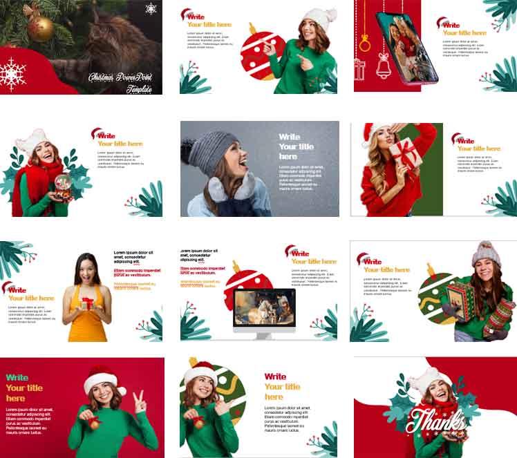 Free Christmas Presentation PowerPoint Templates