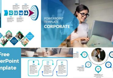 Screenshoot Corporate powerpoiint template blue