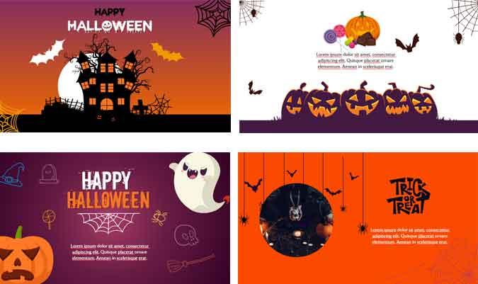 Screenshoot Halloween card powerpoint templates