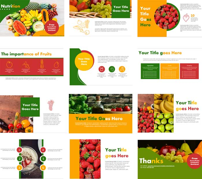 free nutrition powerpoint templates preview