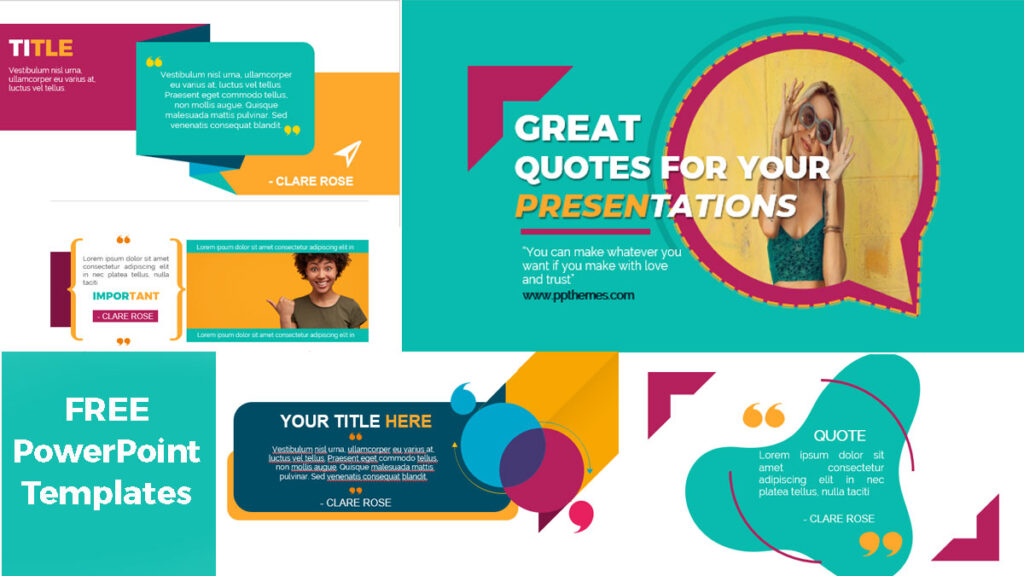 great quotes templates for your presentations
