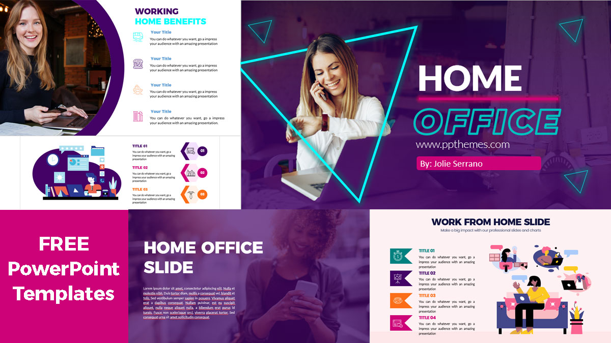 Home Office PowerPoint Presetation Free Download