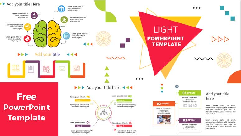 light powerpoint template