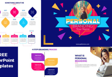 personal branding powerpoint template with infographics