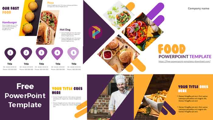 powerpoint templates fast food