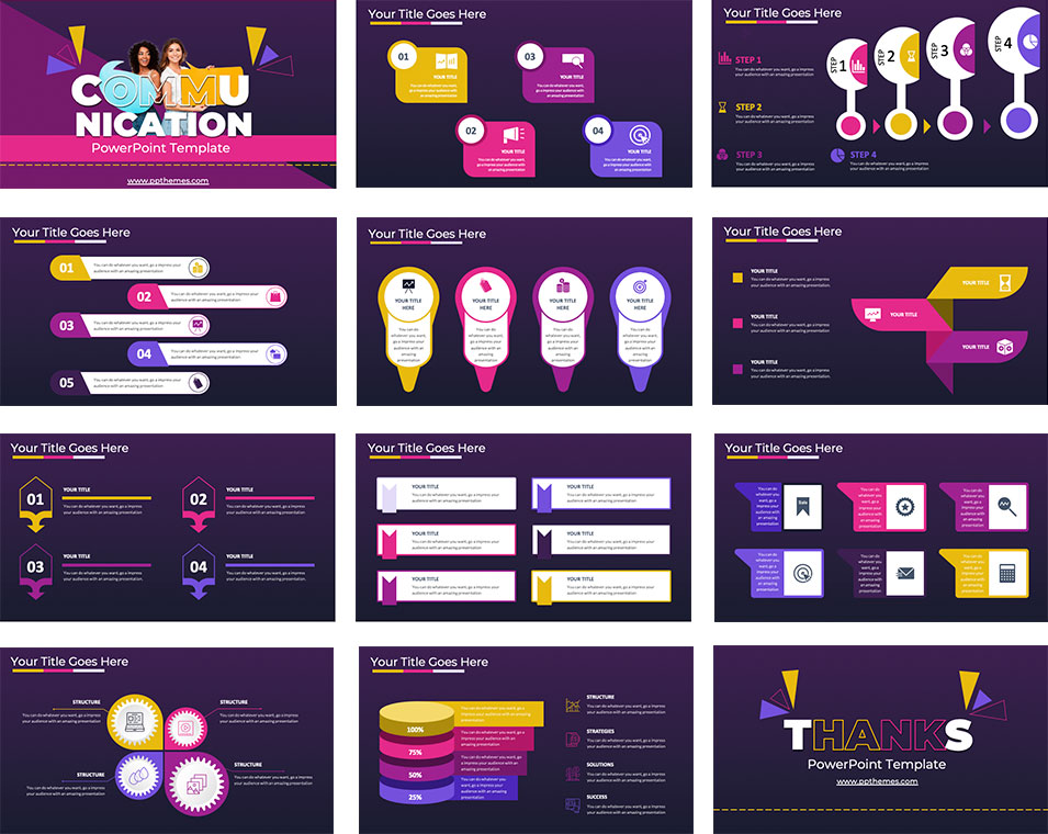 free communication infographics for powerpoint