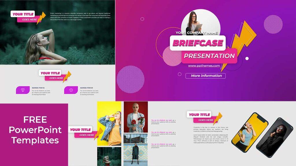 briefcase powerpoint template presentation