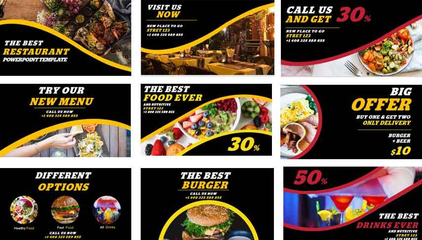 Screenshot restaurant Free PowerPoint Templates