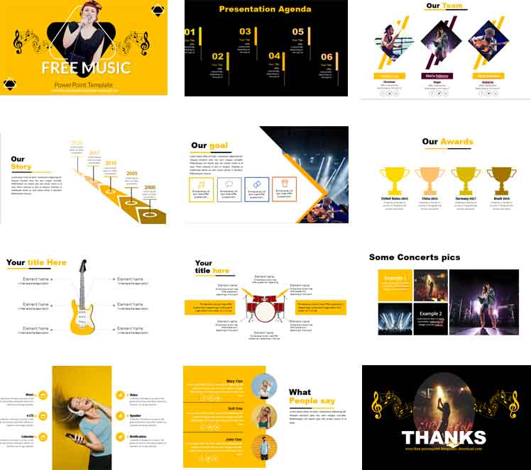 preview Free music powerpoint template