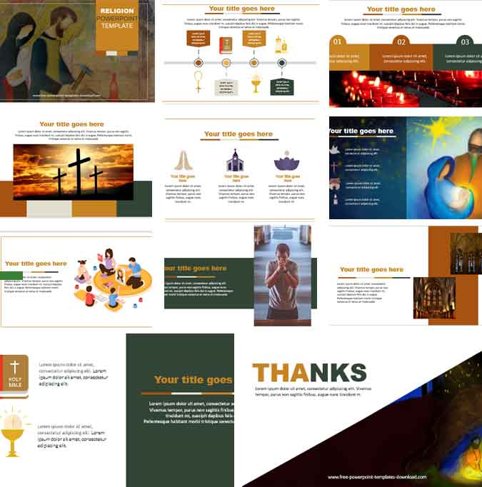 Screenshot religion PowerPoint Template