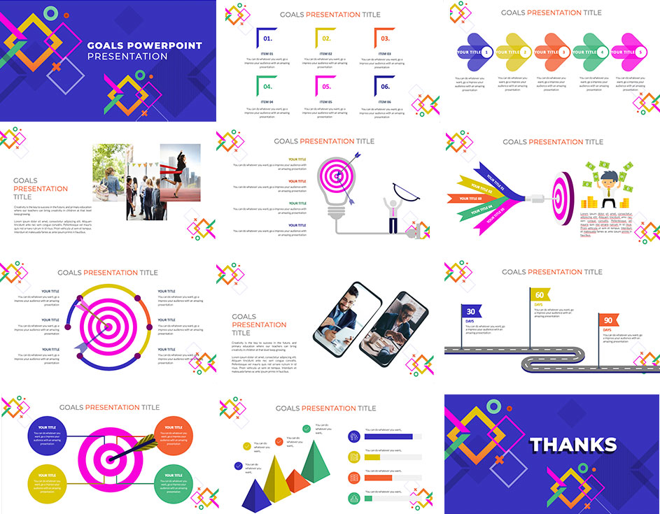 Preview goals presentation powerpoint template ppthemes
