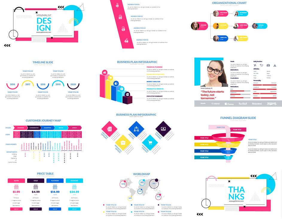Preview Minimalist PowerPoint Infographics