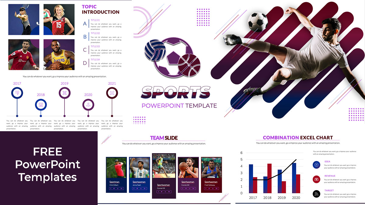 Creative PowerPoint Template about Sport