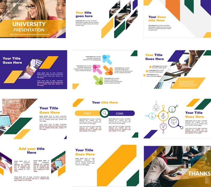 Preview University presentation PowerPoint Template
