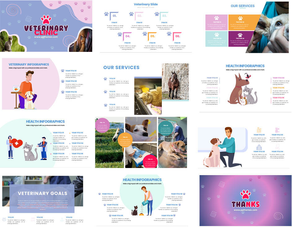 Veterinary Cliclin PowerPoint Templates Presentation