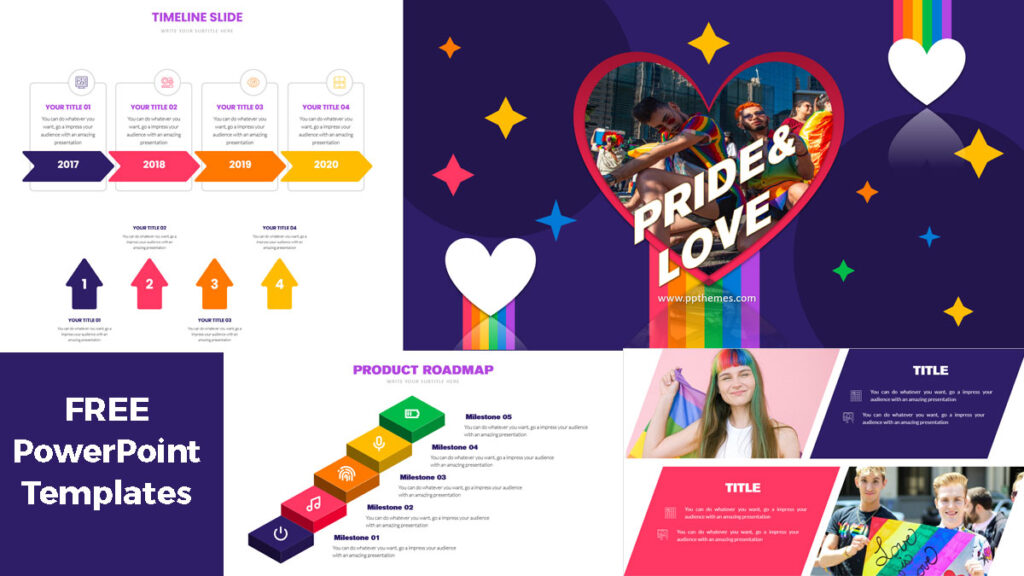 pride and love powerpoint templates