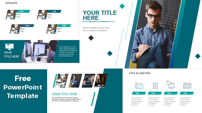 blue professional powerpoint templates free download