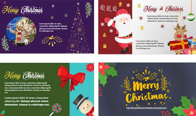 Screenshoot Christmas Card to edit in PowerPoint Templates
